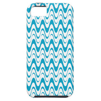 Aegean Sea Blue & White Waves Pattern iPhone5 Case iPhone 5 Covers