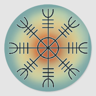 Ægishjalmr Classic Round Sticker