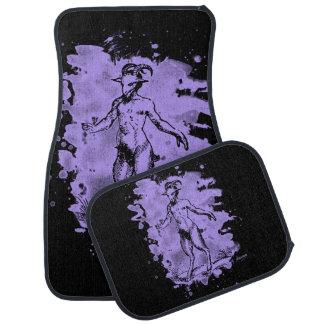 Aegopithecus bleached - violet car mat