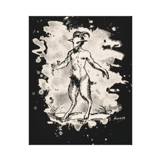 Aegopithecus bleached - white canvas print