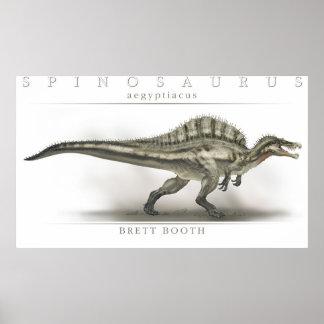 Aegyptiacus de Spinosaurus Póster