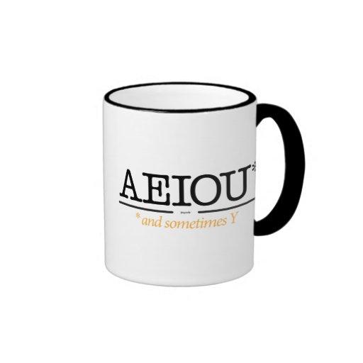 AEIOU* and sometimes Y. Ringer Mug