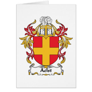 Aelst Family Crest Greeting Card