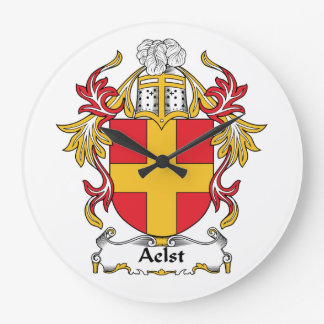 Aelst Family Crest Wall Clocks