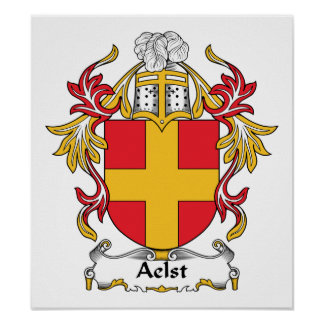 Aelst Family Crest Posters