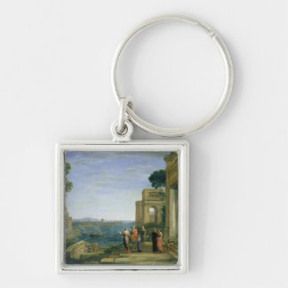 Aeneas and Dido in Carthage, 1675 Keychain