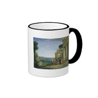 Aeneas and Dido in Carthage, 1675 Ringer Coffee Mug