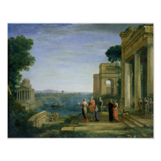 Aeneas and Dido in Carthage, 1675 Poster
