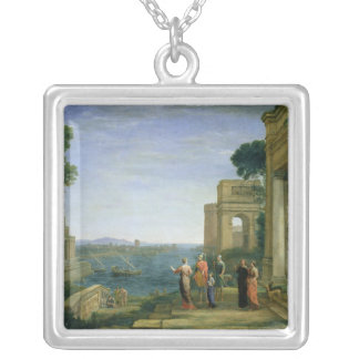 Aeneas and Dido in Carthage, 1675 Square Pendant Necklace