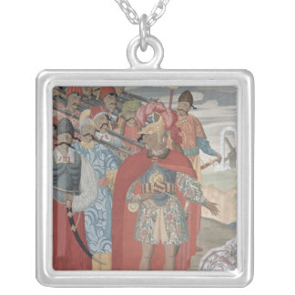 Aeneas and his Soldiers, 1919 Silver Plated Necklace