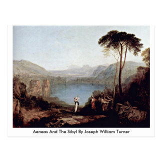 Aeneas And The Sibyl By Joseph William Turner Postcard