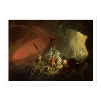 Aeneas and the Sibyl, c.1800 (oil on canvas) Postcard