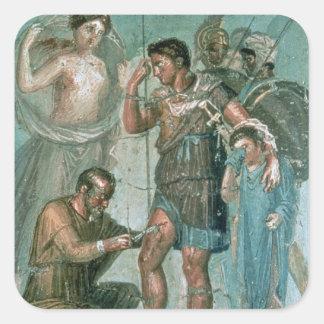 Aeneas hirió, de Pompeya Pegatina Cuadrada