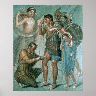 Aeneas hirió, de Pompeya Póster