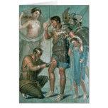 Aeneas hirió, de Pompeya Tarjeta