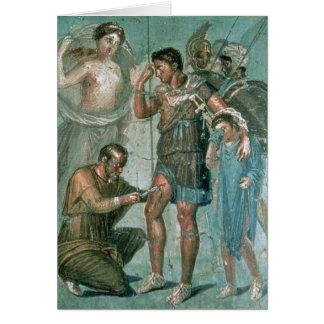 Aeneas hirió, de Pompeya Tarjeta De Felicitación