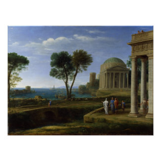 Aeneas in Delos by Claude Lorrain Poster