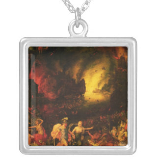 Aeneas in Hades Silver Plated Necklace