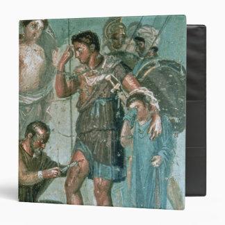 Aeneas injured, from Pompeii 3 Ring Binder