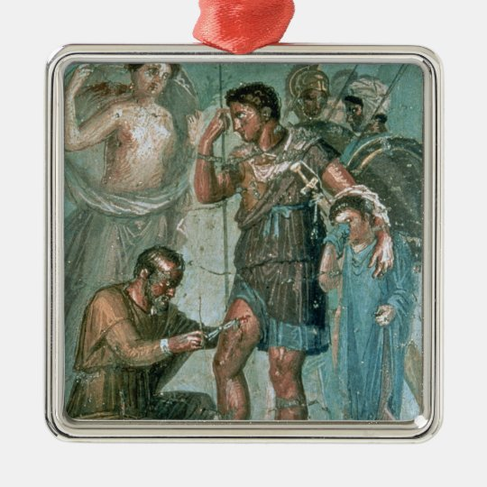Aeneas injured, from Pompeii Metal Ornament