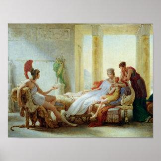 Aeneas que dice Dido del desastre en Troy Póster