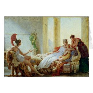 Aeneas que dice Dido del desastre en Troy Tarjeta De Felicitación