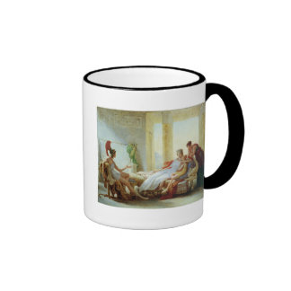 Aeneas que dice Dido del desastre en Troy Tazas De Café