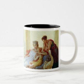 Aeneas que dice Dido del desastre en Troy Taza De Dos Tonos
