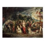 Aeneas se prepara para llevar a los Trojan en exil Tarjetas Postales