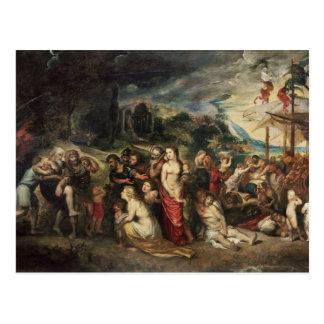 Aeneas se prepara para llevar a los Trojan en Tarjetas Postales