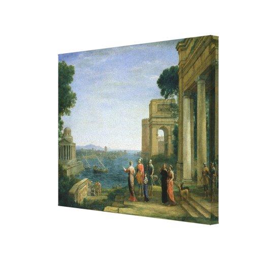 Aeneas y Dido en Cartago, 1675 Lona Envuelta Para Galerías