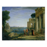 Aeneas y Dido en Cartago, 1675 Póster