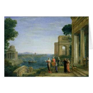 Aeneas y Dido en Cartago, 1675 Tarjeta De Felicitación