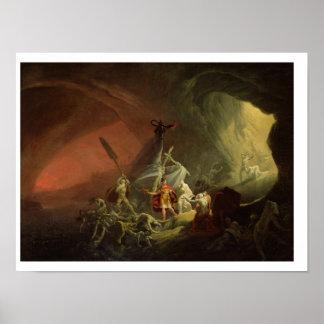 Aeneas y la sibila, c.1800 (aceite en lona) póster