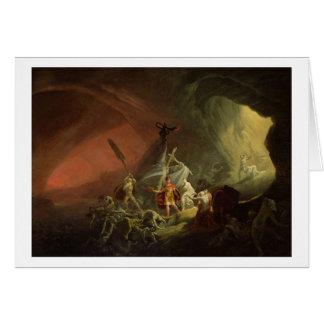 Aeneas y la sibila, c.1800 (aceite en lona) tarjeta de felicitación