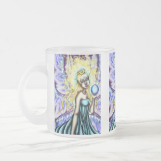 """Aene's Light"" Oracle Frosted Glass Mug"
