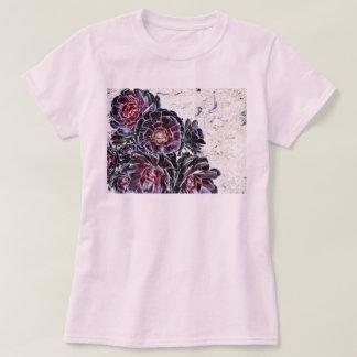 Aeonium Flower On Dry Rocks Tee Shirt