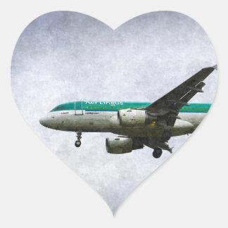 Aer Lingus Airbus A319 Art Heart Sticker