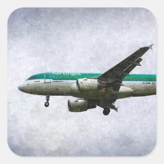 Aer Lingus Airbus A319 Art Square Sticker