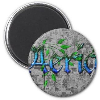 Aeria & Manga 2 Inch Round Magnet