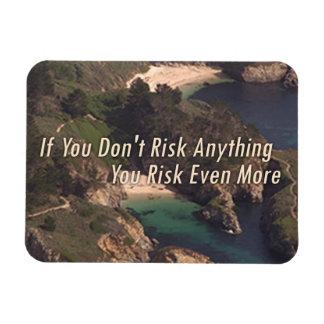 "Aerial Art Motivation, ""No risk, no gain..."" Magnet"