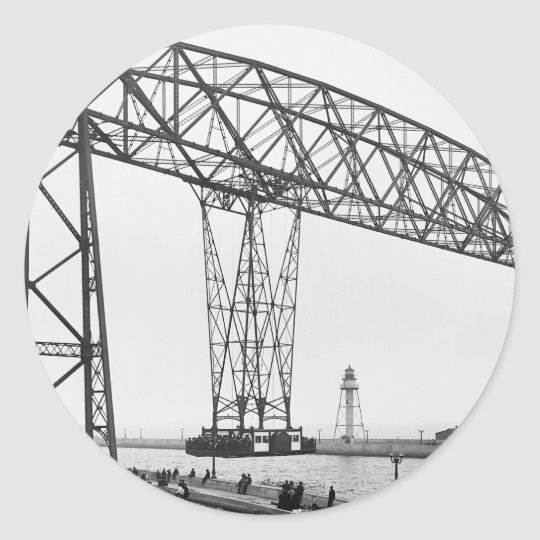 Aerial Bridge Duluth Minnesota Classic Round Sticker