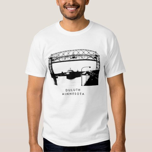 Aerial bridge in duluth minnesota art t shirt zazzle for Duluth t shirt commercial