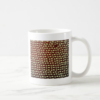 Aerial cars in a line coffee mug