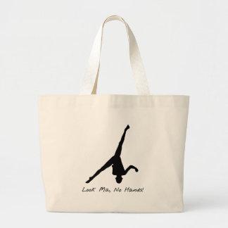 Aerial Cartwheel Gymnastics Canvas Bags