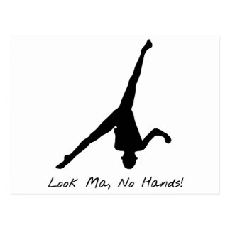 Aerial Cartwheel Gymnastics PostcardGymnastics Silhouette Cartwheel