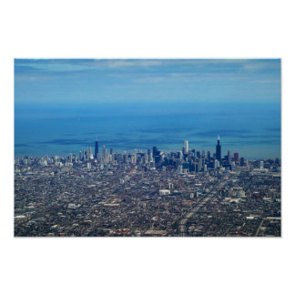 Aerial Chicago Downtown Poster