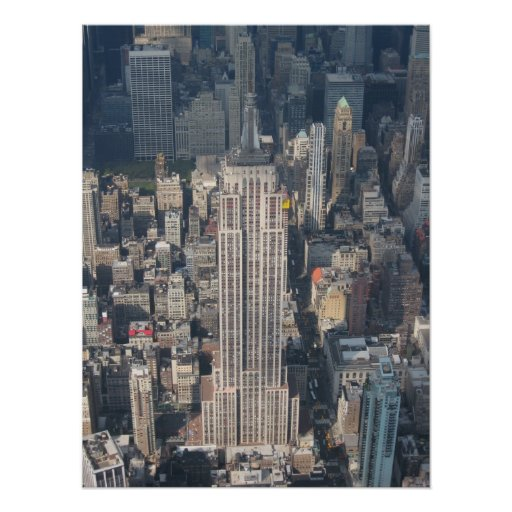 Aerial Closeup of Empire State Building Poster