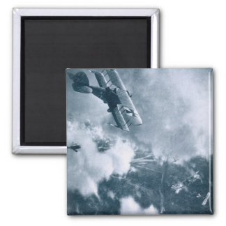 Aerial Combat on the Western Front, World War One, 2 Inch Square Magnet
