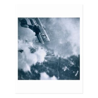 Aerial Combat on the Western Front, World War One, Postcard